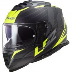 CASCO LS2 FF800 STORM NERVE MATT BLACK H-V YELLOW