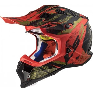 CASCO LS2 MX470 SUBVERTER CLAW MATT BLACK RED