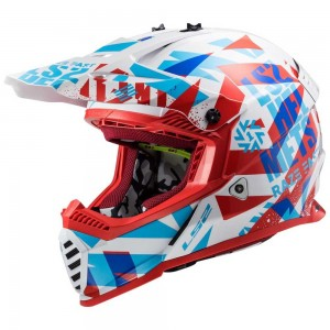 CASCO LS2 FAST EVO MINI FUNKY RED WHITE