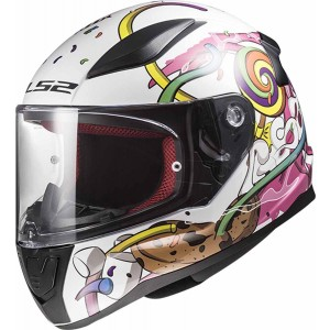 CASCO LS2 RAPID MINI CRAZY POP WHITE PINK