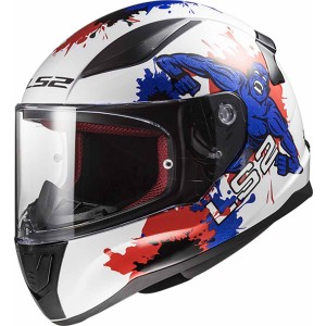 CASCO LS2 RAPID MINI MONSTER WHITE BLUE