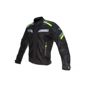 CHAQUETA ONBOARD ON AIR NE/GRIS/FLUOR