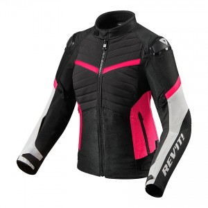 CHAQUETA REV'IT ARC H2O LADIES BLACK-FUCSHIA