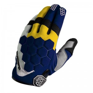 GUANTE ONBOARD CROSS MX-3 AZUL/AMARILLO/BLANCO