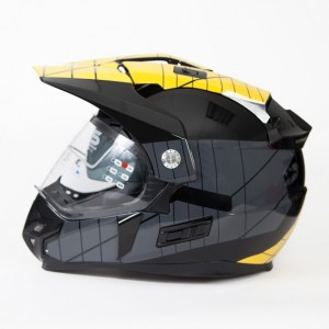 CASCO SUN-X ADVENTURE NEGRO/GR/AMARILLO