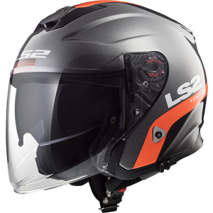 CASCO LS2 INFINITY SMART MATT TITANIUM ORANGE