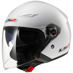 CASCO LS2 TRACK SOLID WHITE
