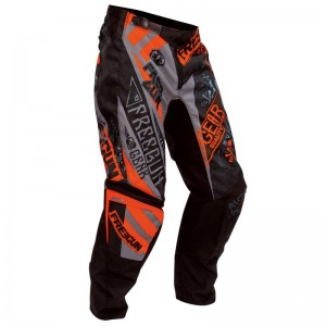 PANTALON SHOT BANDANA GRIS/ORANGE