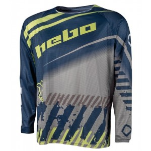 CAMISETA HEBO ENDURO-CROSS STRATOS BLUE