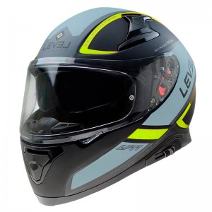 CASCO LEVEL INTEGRAL  LFT1 TOURING NEGRO MATE FLUOR