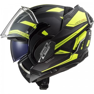 CASCO LS2 FF900 VALIANT II REVO MATT BLACK H-V YELLOW