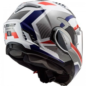 CASCO LS2 FF900 VALIANT II REVO WHITE RED BLUE