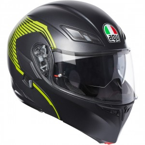 CASCO AGV COMPACT ST VERMONT MATT BLACK/YELLOW FLUO