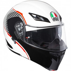 CASCO AGV COMPACT ST VERMONT WHITE/BLACK/RED