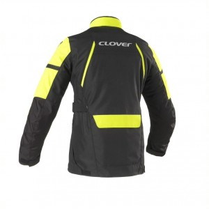 CHAQUETA CLOVER STORM 3 BLACK-YELLOW