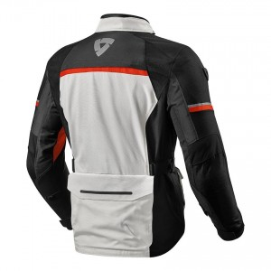 CHAQUETA REV'IT OUTBACK 3 BLACK SILVER-RED