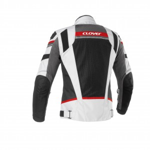 CHAQUETA CLOVER RAINJET RED/GREY